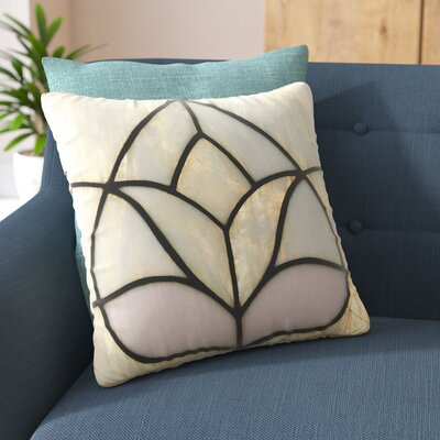 Philip Brown Tulip Stained Glass Floral Digital Outdoor Throw Pillow Size: 16 H x 16 W x 5 D
