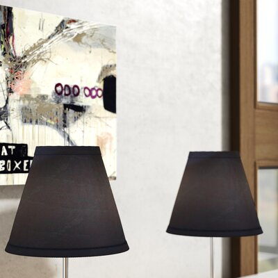 6 Cotton Empire Clip-on Lamp Shade Color: Navy Blue