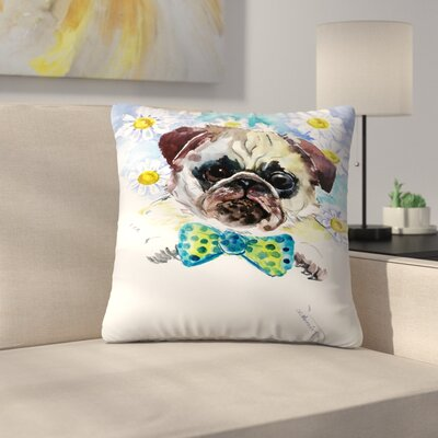 Pug Face 2 Throw Pillow Size: 16 x 16