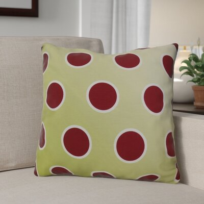 Holiday Bubbly Throw Pillow Size: 18 H x 18 W, Color: Light Green