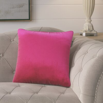 Pittenger Soft Luxury Velvet Throw Pillow Color: Pink