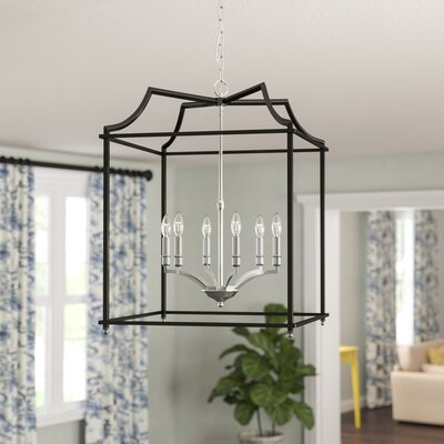 Bartley Transitional 6-Light Foyer Pendant Finish: Black