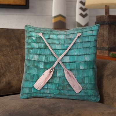 Brushton Rustic Oars Square Throw Pillow Size: 18 x 18