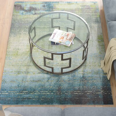 Dunmore Blue/Green Area Rug Rug Size: 53 x 77