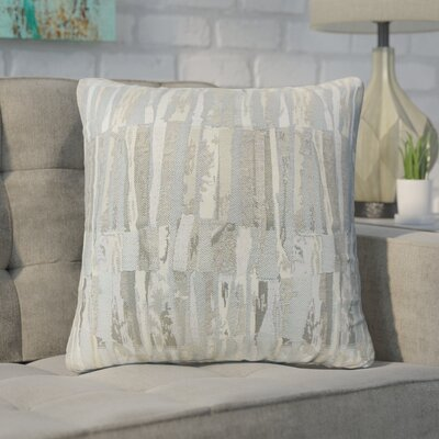 Wimbish Stripes Throw Pillow Color: Gray