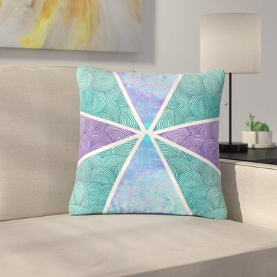 Pom Graphic Design Reflective Pyramids Outdoor Throw Pillow Size: 18 H x 18 W x 5 D