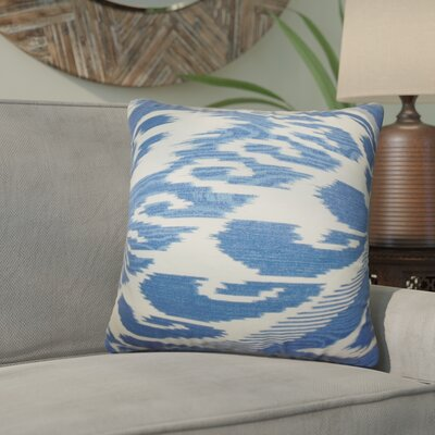 Delano Ikat Linen Throw Pillow Color: Hyacinth, Size: 24 x 24