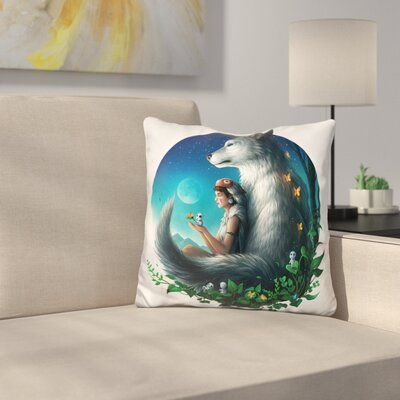 Mononoke Safe Throw Pillow