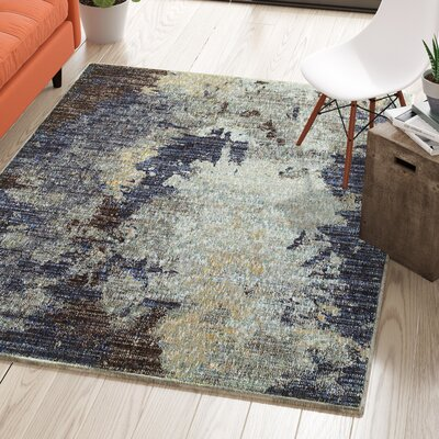 Knox Tierra Navy Blue Area Rug Rug Size: Rectangle 33 x 52
