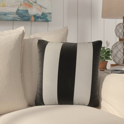 Eng Stripes Cotton Throw Pillow Color: Blue/White