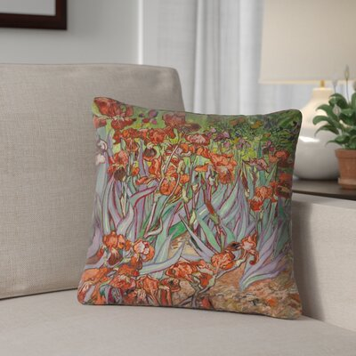 Morley Outdoor Throw Pillow Size: 16 x 16, Color: Green/Orange