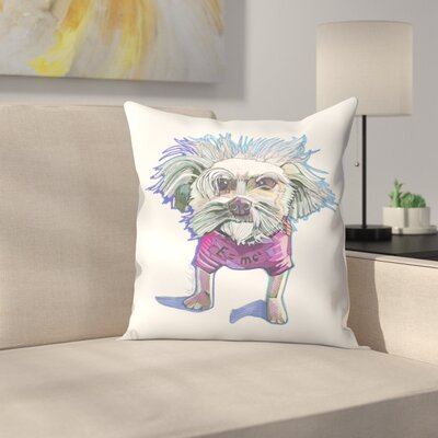 Einstein Dog Bert Throw Pillow Size: 14 x 14