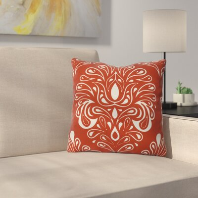 Harmen Print Throw Pillow Size: 20 H x 20 W x 3 D, Color: Orange