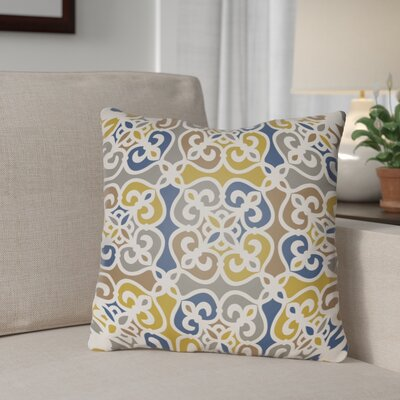 Alfredson Indoor/Outdoor Throw Pillow Size: 26 H x 26 W x 5 D, Color: Yellow