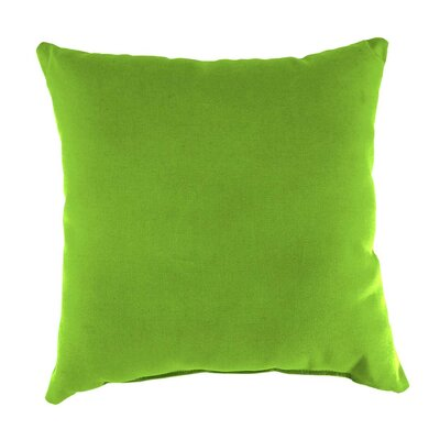 Classic Indoor/Outdoor Throw Pillow Color: Green, Size: 15 H x 15 x 7 D