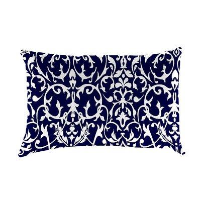 Classic Indoor/Outdoor Lumbar Pillow Color: Midnight Filigree