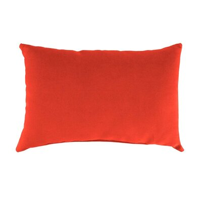 Classic Indoor/Outdoor Lumbar Pillow Color: Coral
