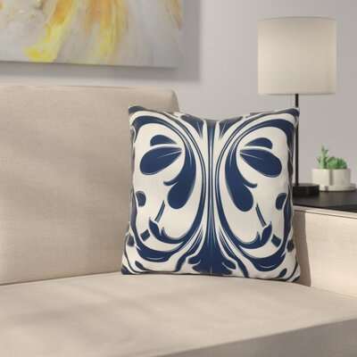 Harmen Print Throw Pillow Size: 18 H x 18 W x 3 D, Color: Blue