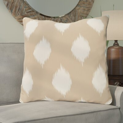 Christian Geometric Throw Pillow Size: 16 H x 16 W, Color: Taupe / Off White