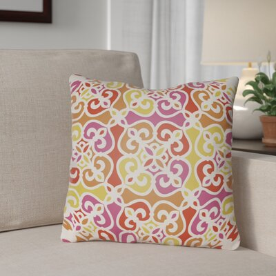 Alfredson Indoor/Outdoor Throw Pillow Size: 16 H x 16 W x 3 D, Color: Orange