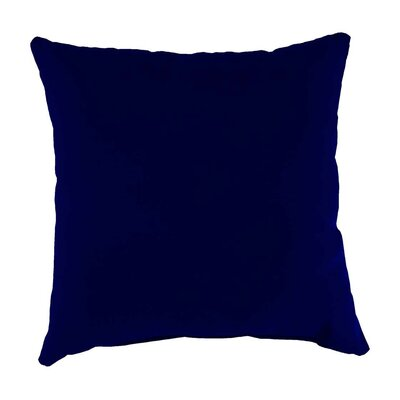 Classic Indoor/Outdoor Throw Pillow Color: Midnight Navy, Size: 15 H x 15 x 7 D