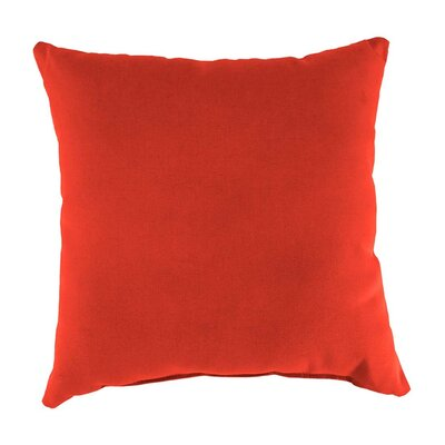 Classic Indoor/Outdoor Throw Pillow Color: Coral, Size: 15 H x 15 x 7 D