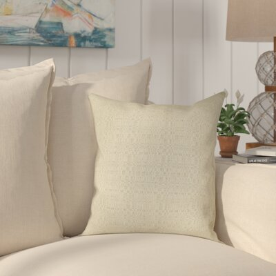 Halliburton Indoor/Outdoor Sunbrella Throw Pillow Color: Linen Silver, Size: 24 x 24