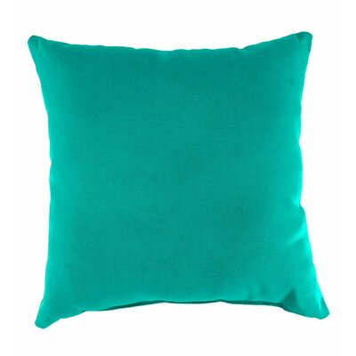 Classic Indoor/Outdoor Throw Pillow Color: Aqua, Size: 15 H x 15 x 7 D