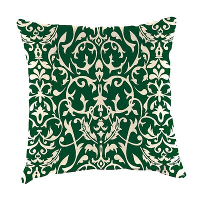 Classic Indoor/Outdoor Throw Pillow Color: Pine Filigree