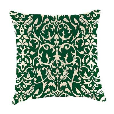 Classic Indoor/Outdoor Throw Pillow Color: Pine Filigree