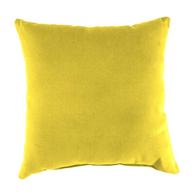 Classic Indoor/Outdoor Throw Pillow Color: Daffodil, Size: 15 H x 15 x 7 D