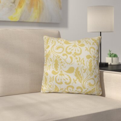 Harbin Throw Pillow Size: 18 H x 18 W x 3 D, Color: Gold