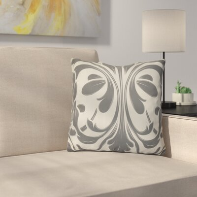Harmen Outdoor Throw Pillow Size: 20 H x 20 W x 3 D, Color: Gray