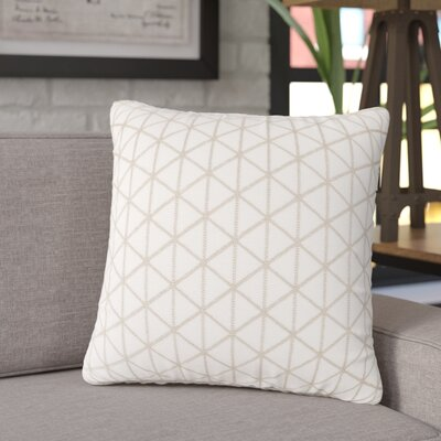 Culbert Triangle Wool Throw Pillow Color: Beige
