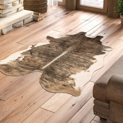 Margo Faux Cowhide Beige/Brown Area Rug Rug Size: Rectangle 5 x 66