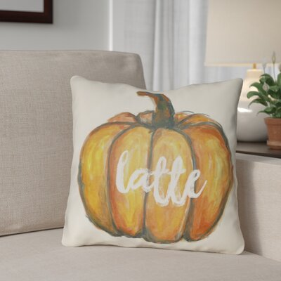 Drewry Latte Throw Pillow Size: 20 H x 20 W