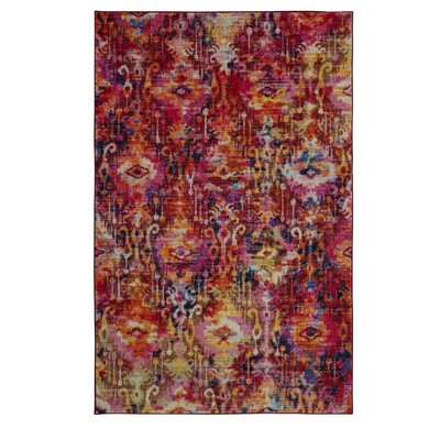 Locher Pink Area Rug Rug Size: Rectangle 8 x 10