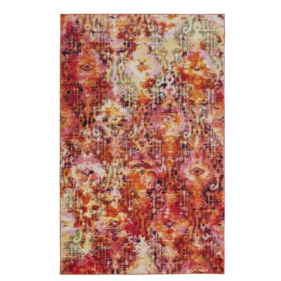Locher Tangerine Area Rug Rug Size: Rectangle 8 x 10
