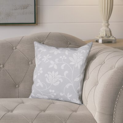 Cecilia Traditional Throw Pillow Size: 16 H x 16 W, Color: Gray