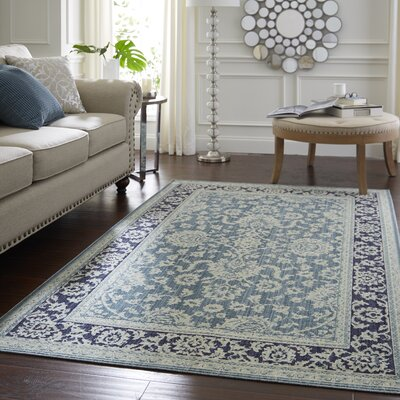 Park Slope Aqua Area Rug Rug Size: Rectangle 5 x 8