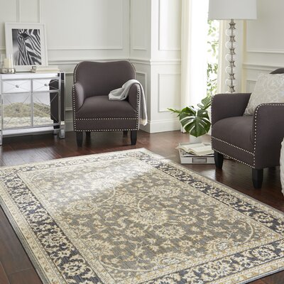 Park Slope Gray/Gold Area Rug Rug Size: Rectangle 76 x 10