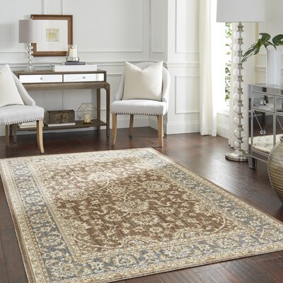 Park Slope Tan/Gray Area Rug Rug Size: Rectangle 76 x 10