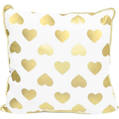 Pavone Foil Love and Heart Indoor/Outdoor Throw Pillow