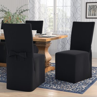 Dining Chair Slipcover Upholstery: Black