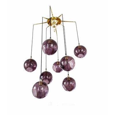 Flash Your Lamps 8-Light Chandelier Shade Color: Purple Rain