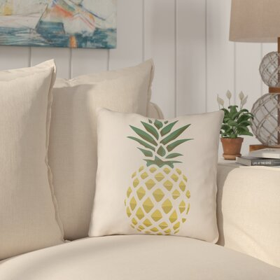 Brookwood Pineapple Indoor/Outdoor Throw Pillow Size: 20 H x 20 W