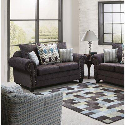 Mandros Loveseat Upholstery : Home Run Brown