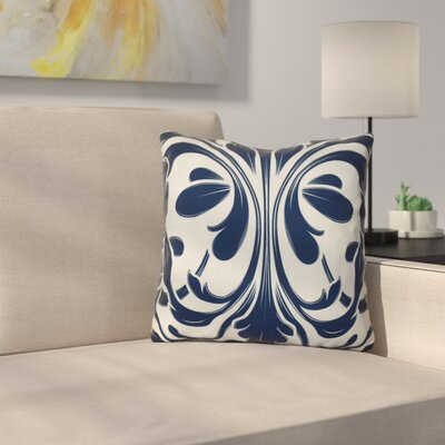 Harmen Outdoor Throw Pillow Size: 18 H x 18 W x 3 D, Color: Blue
