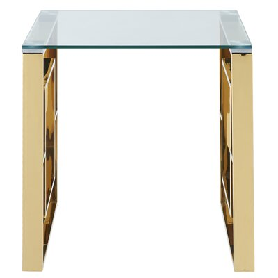 Melendez Stainless Steel End Table Color: Gold