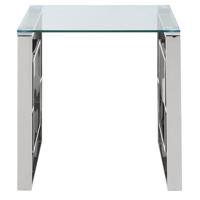Melendez Stainless Steel End Table Color: Chrome